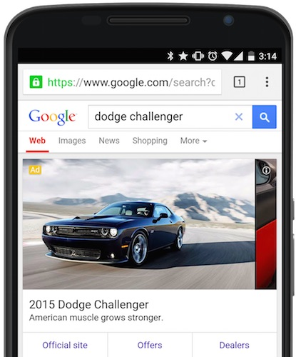 Google Publicite Balayage Mobile