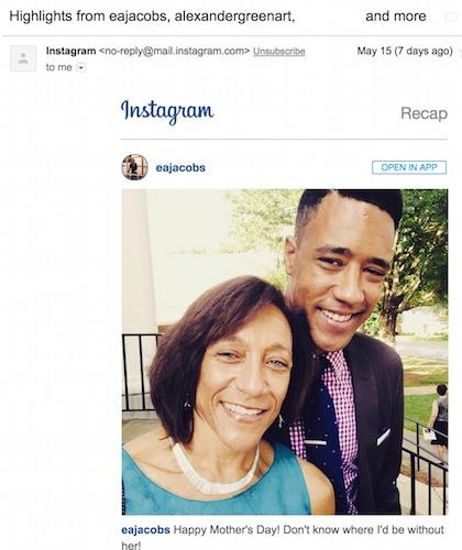 Instagram Highlight Email