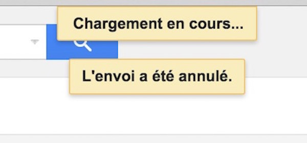 Annuler Envoi Email Gmail
