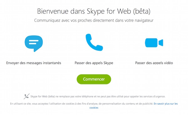 Skype Web Beta Francais Premier Lancement