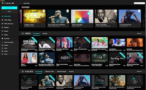 Tidal Application Mac