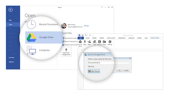 Google Drive Microsoft Office Plugin