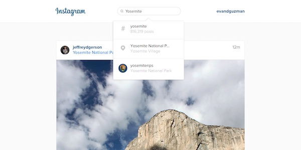 Instagram Recherche Web