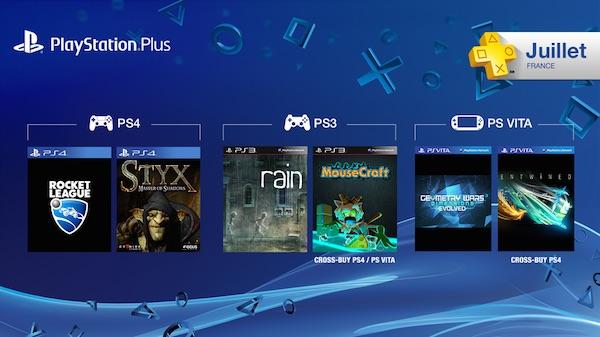 PlayStation Plus Jeux Offerts Juillet 2015