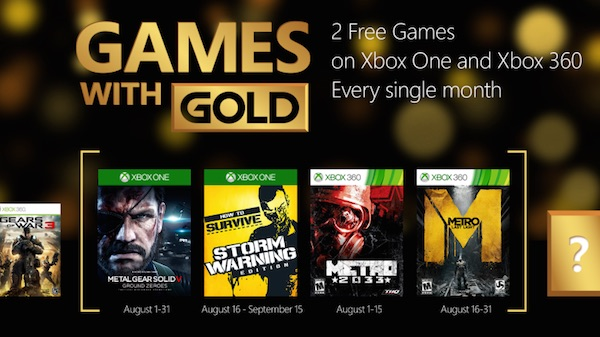 Xbox Live Gold Jeux Offerts Aout 2015