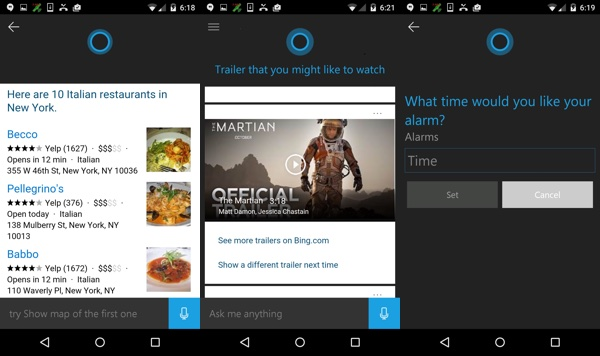 Cortana Android Beta Publique