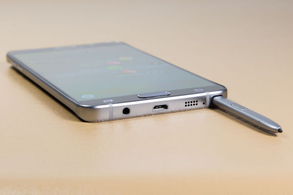 Galaxy Note 5 Stylet Envers