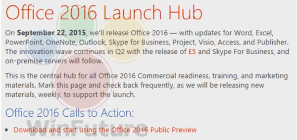 Memo Fuite Office 2016
