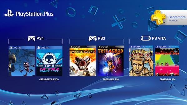 PlayStation Plus Jeux Offerts Septembre 2015