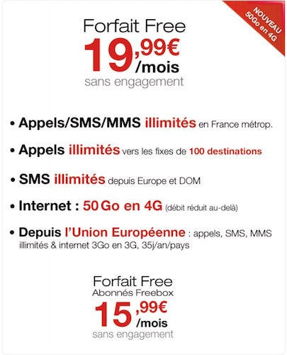 Free Mobile 50 Go Data