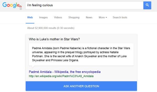 Google Recherche Anecdote