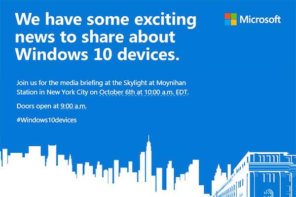 Microsoft Conference Invitation 6 Octobre 2015
