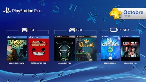 PlayStation Plus Jeux Offerts Octobre 2015