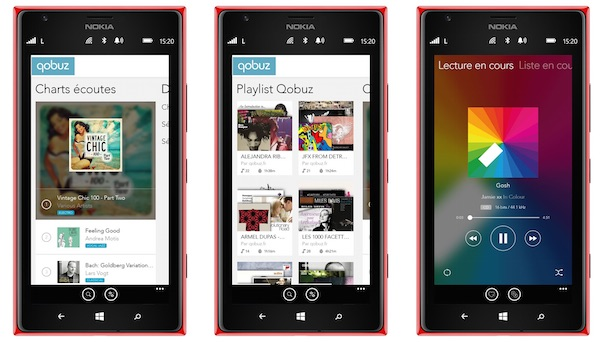 Qobuz Application Windows Phone