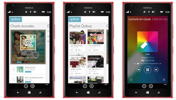 Qobuz Application Windows Phone