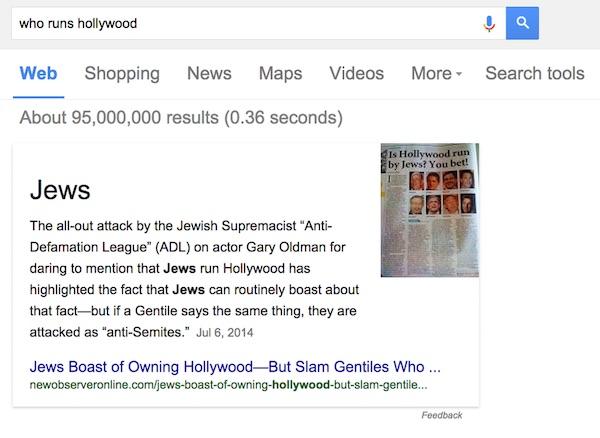 Qui Controle Hollywood Juifs Google