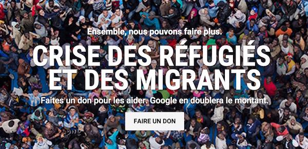Refugies Migrants Dons Google