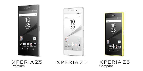 Sony Xperia Z5 Xperia Z5 Premium Xperia Z5 Compact