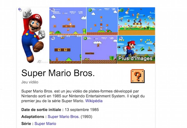 Super Mario Bros 30 Ans Easter Egg Google