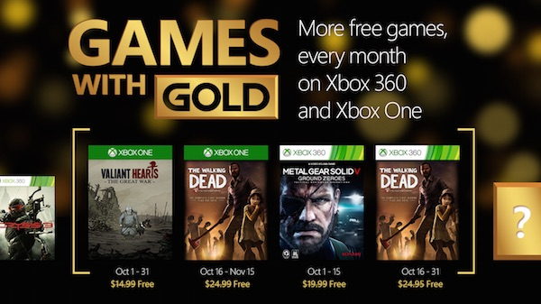 Xbox Gold Jeux Offerts Octobre 2015