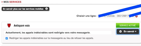 Antispam Voix Free Mobile