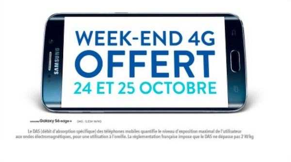 Bouygues Telecom Week-End Ilimite 24 25 Octobre