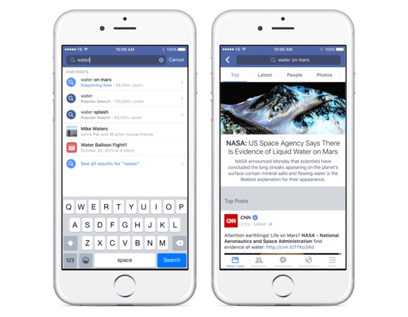 Facebook Indexe Statuts Recherche