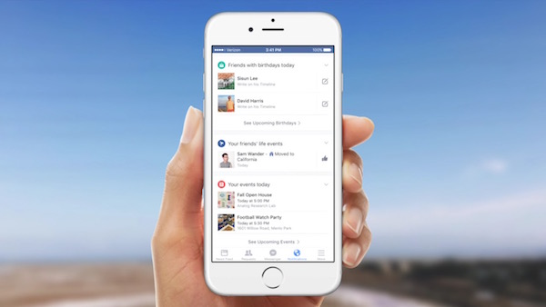 Facebook Nouvel Onglet Notifications