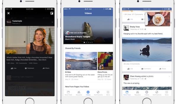 Facebook Section Videos
