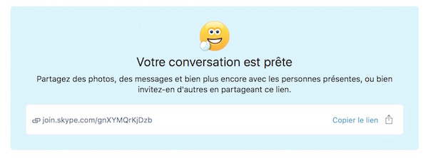 Skype Lien Conversation