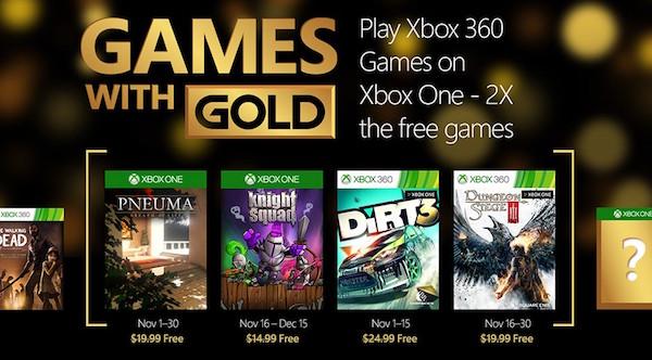 Xbox Live Gold Jeux Offerts Novembre 2015