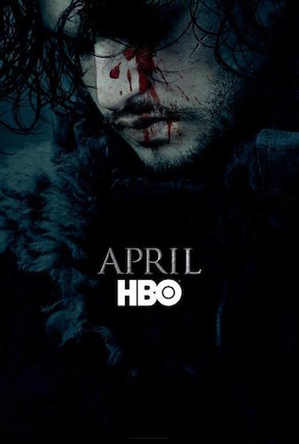 Jon Snow Poster Game of Thrones Saison 6
