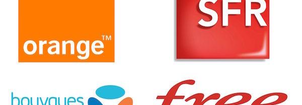Orange SFR Bouygues Telecom Free Mobile Logos