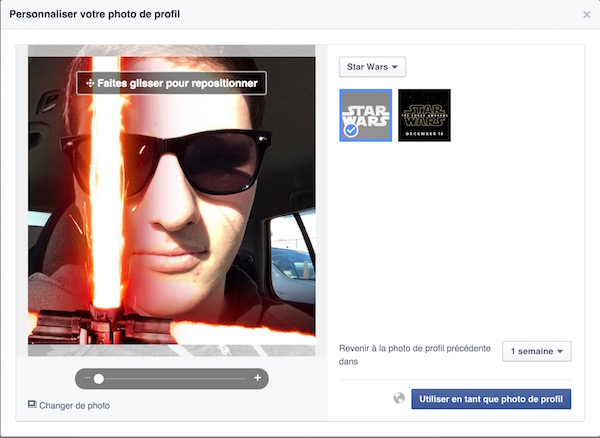 Facebook Photo Profil Sabre Laser Star Wars