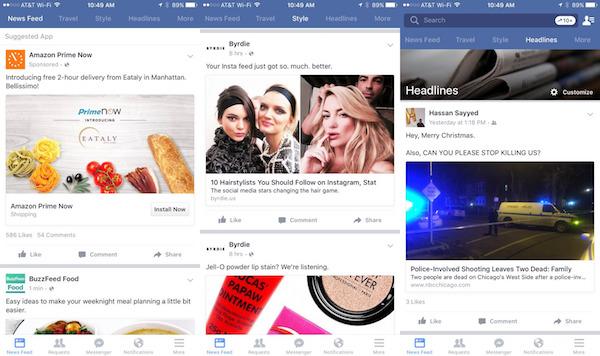 Facebook Plusieurs Fils Actualite Application iPhone
