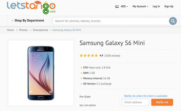 Galaxy S6 Mini Fuite Commercant