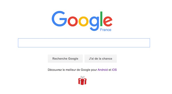 Google Page Accueil Applications iOS Android Noel