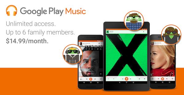 Google Play Musique Offre Familiale