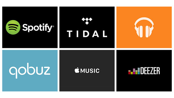 Spotify Tidal Google Play Music Qobuz Apple Music Deezer