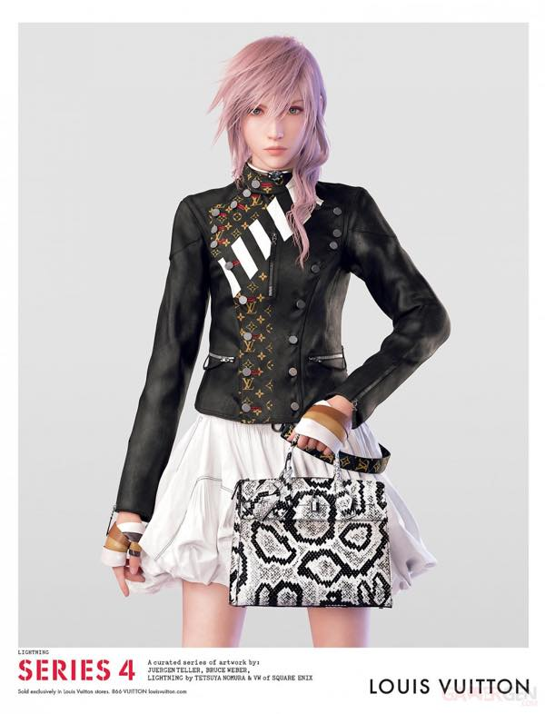 lightning final fantasy g rie de louis vuitton la publicit compl te kulturegeek. Black Bedroom Furniture Sets. Home Design Ideas