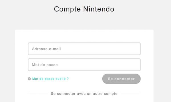 Compte Nintendo