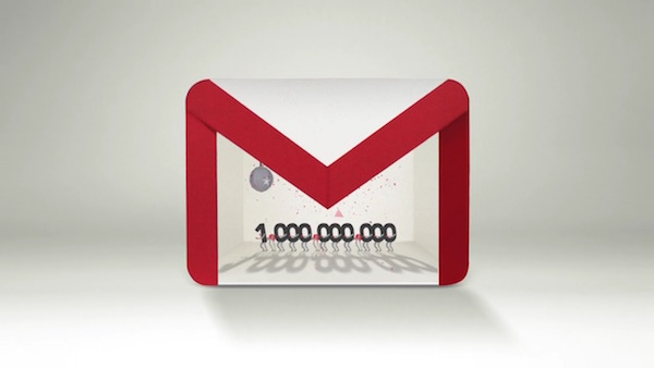 Gmail 1 Milliard Utilisateurs