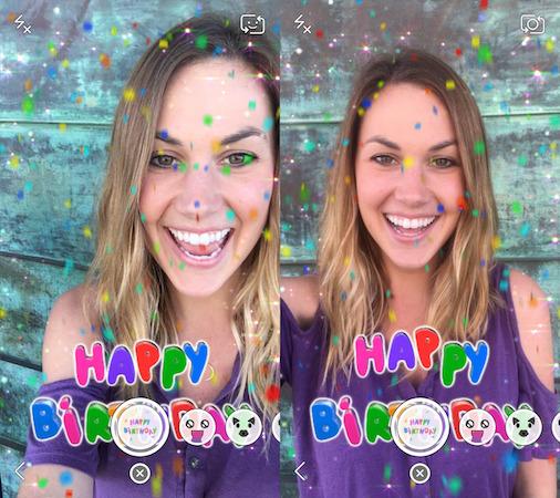 Snapchat Filtre Anniversaire