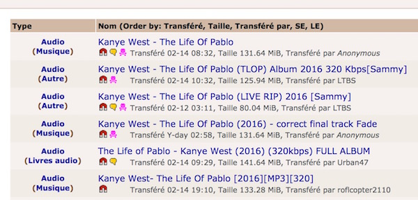 Torrent Life of Pablo Kanye West