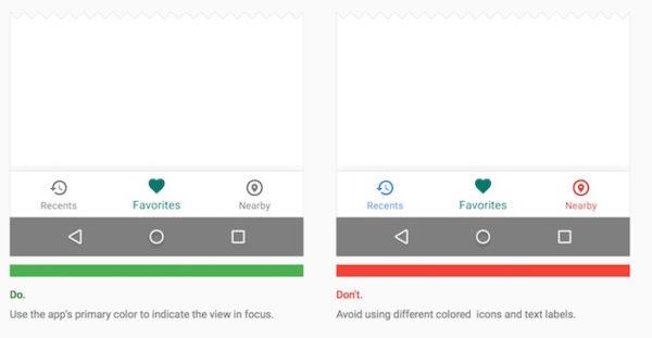 Android Boutons Navigation Bas Ecran