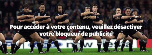Bloqueur Publicite Bloque