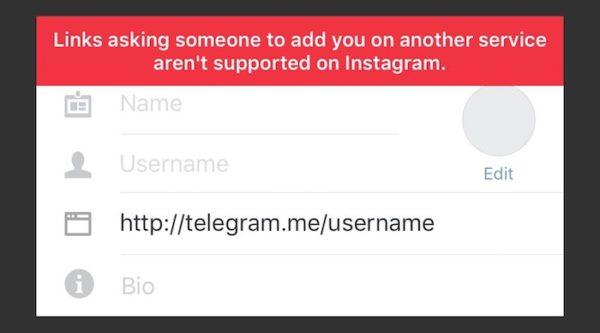 Instagram Bloque Liens Reseaux Sociaux