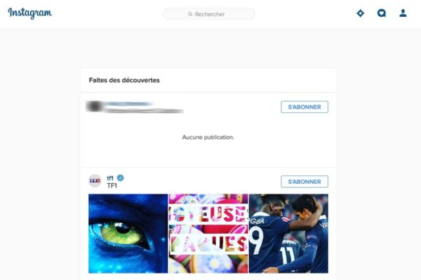 Instagram Decouvertes Web