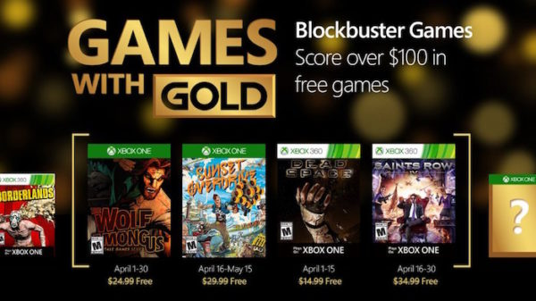 Xbox Jeux Offerts Avril 2016