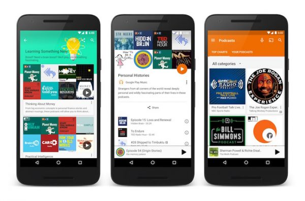 Google Play Musique Podcasts